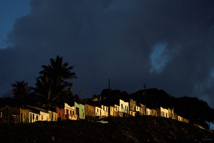 Row of Houses in Sunset Light, Bahia