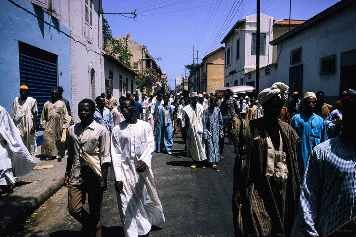 Crowd of People in Street, Senegal