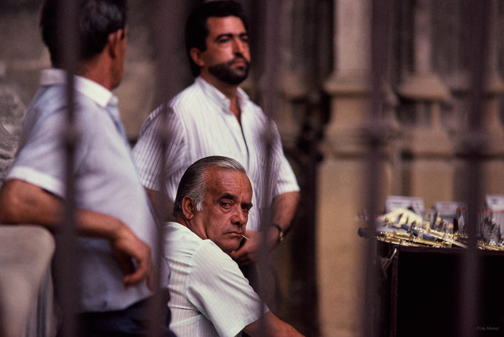 Three Men One with Toothpick, Spain