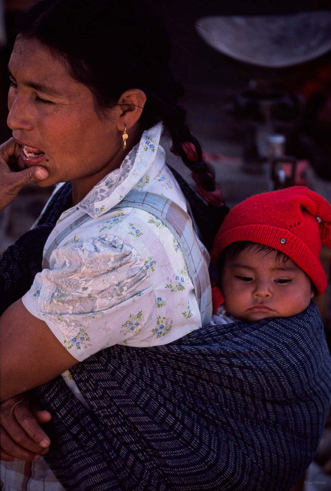 Mom and Baby with Red Hat, Oaxaca