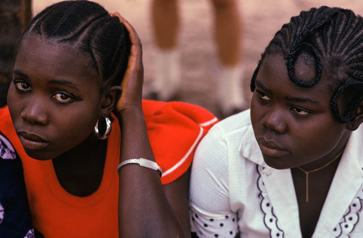 Woman in Red with Woman in White, Senegal