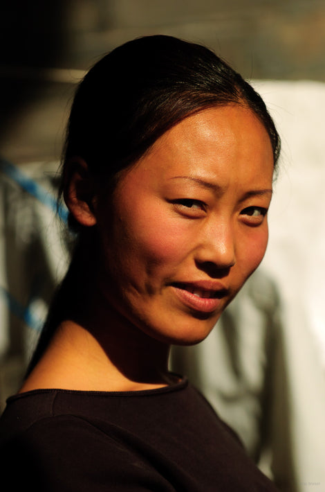 Smiling Girl in Brown, Pingyao