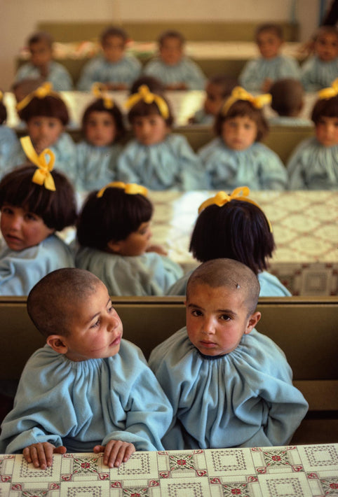 Children in Blue at School, Iran