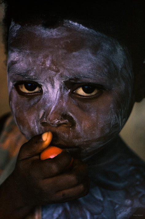 Painted Child Head and Hand with Red, Liberia