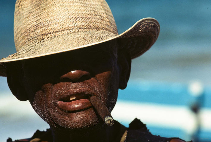 Man, Straw Hat, Cigar, Bahia