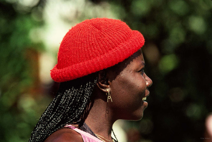 Woman, Red Cap, Jamaica