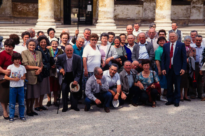 Big Group Posing in Front of Steps, Vicenza