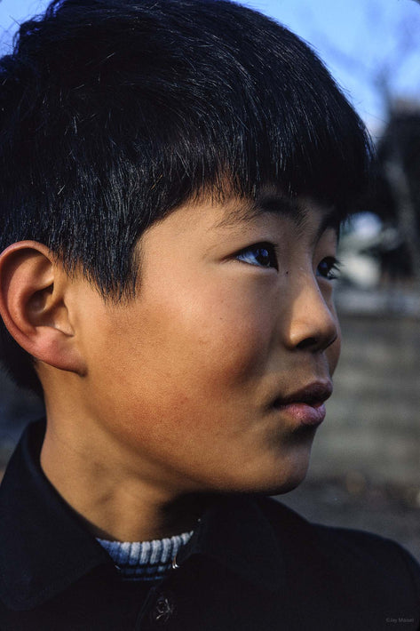 Close-up Head of Young Boy, Tokyo
