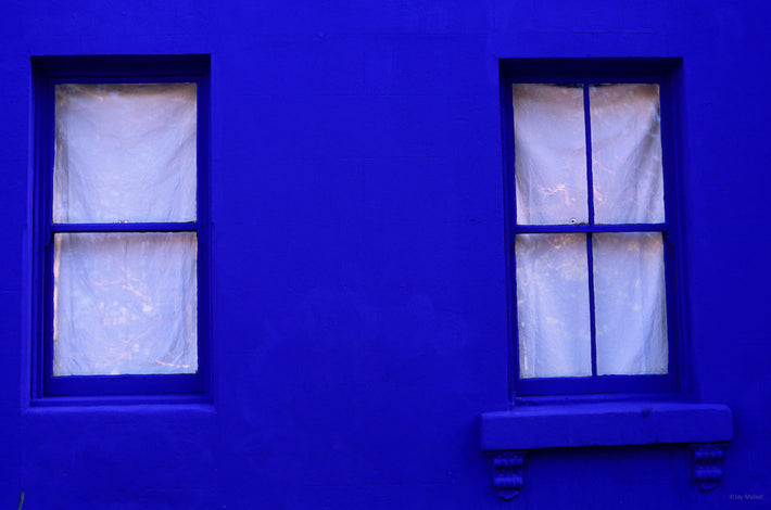 Blue Wall with Two White Windows, Australia
