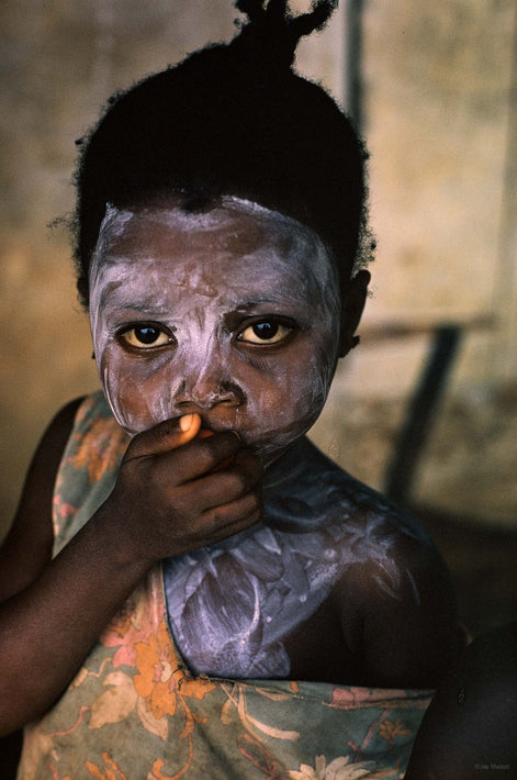 Painted Child with Hand to Face, Liberia