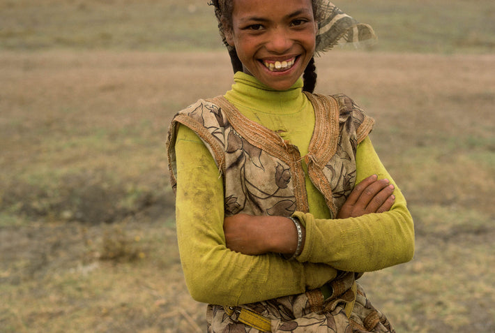 Smiling Young Girl, Arms Crossed, Marrakech