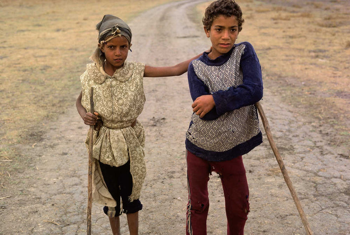 Two Children with Staffs, Marrakech