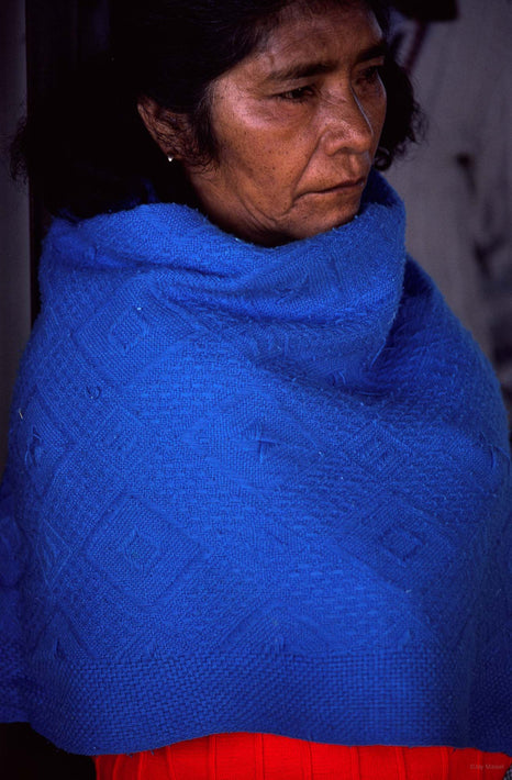 Old Woman, Blue and Red, Oaxaca