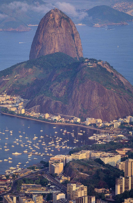 Telephoto View of Sugarloaf Mountain from Mount Corcovado, Rio de Janeiro