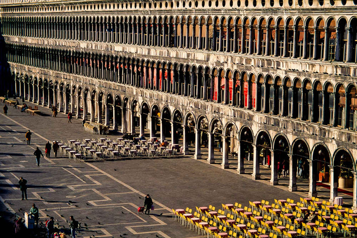 Façade of Building with Tables, Piazza San Marco, Venice