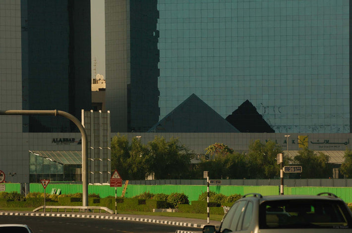 Glass Façade, Two Pyramids, Dubai