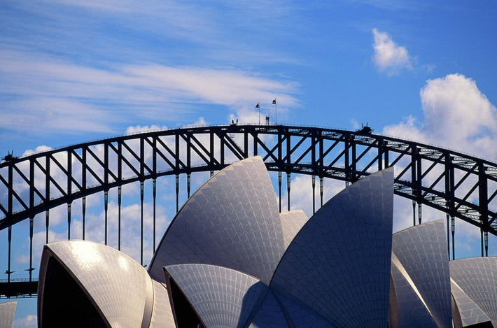 Sydney Opera House and Bridge in Background, Australia