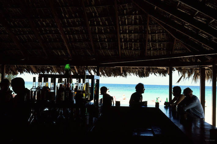Bar, People, Sea, Jamaica