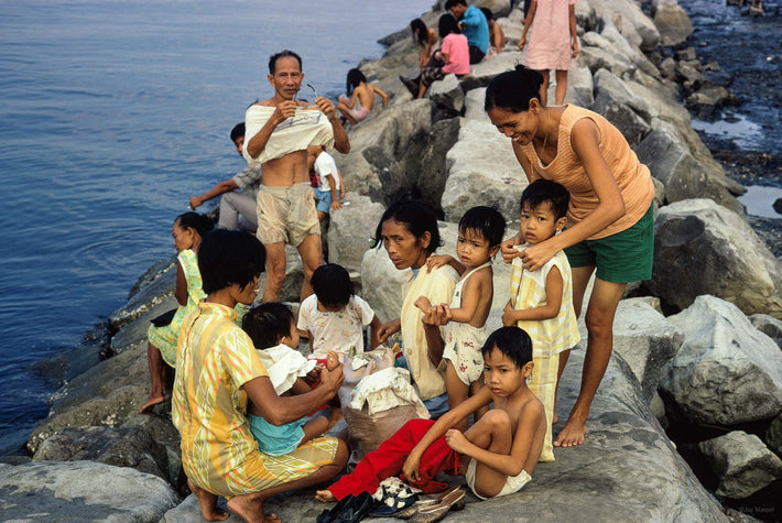 Families on Rocks, Philippines