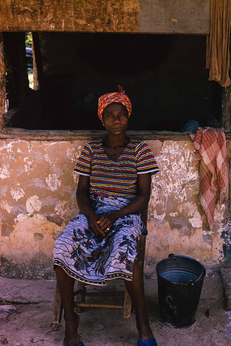 Seated Woman in Front of Window, Liberia