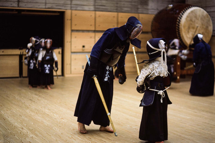 Kendo Instructor and Student, Kamakura