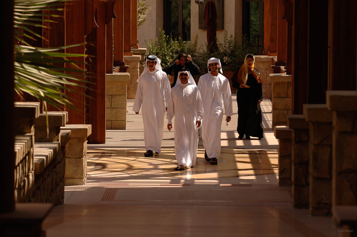 Three men in White, Dubai