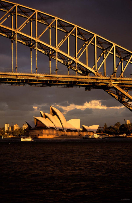 Sydney Opera House and Bridge in Foreground, Australia