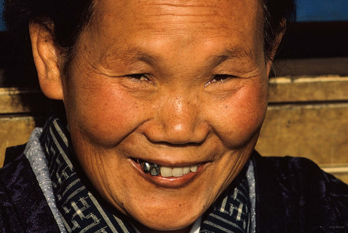 Close-up of Smiling Woman, Three Silver Teeth, Tokyo