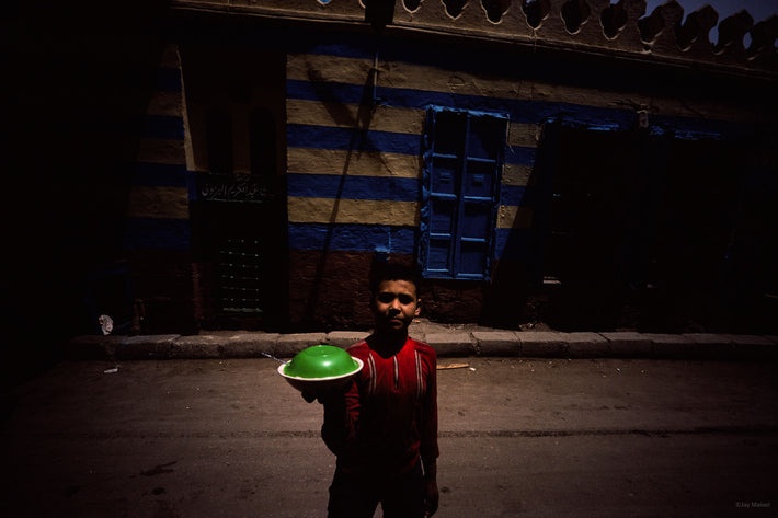 Kid with Green Dish, Egypt