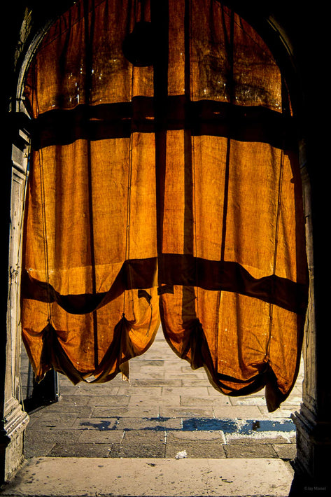 Backlit Arch with Fabric, Venice