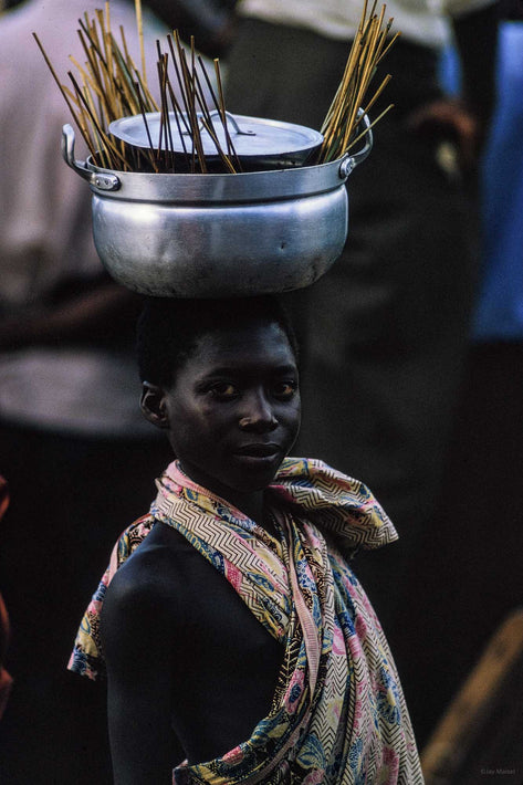 Young Kid with Pot on Head, Ghana