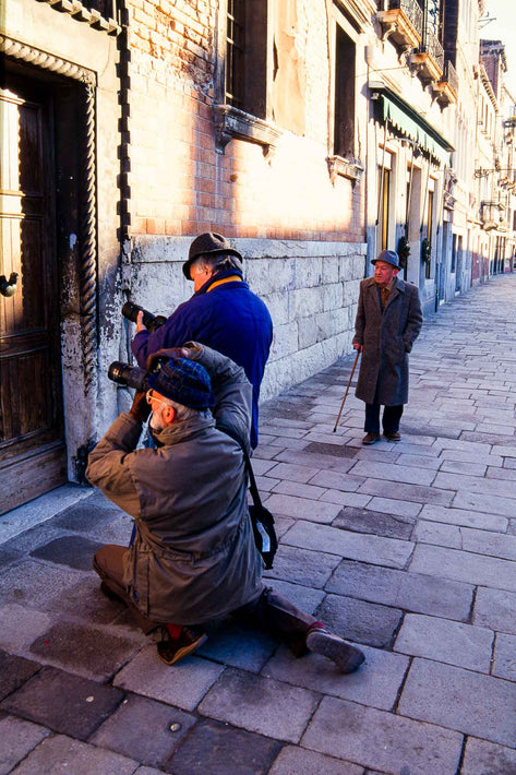 Two Men Photographing, Venice