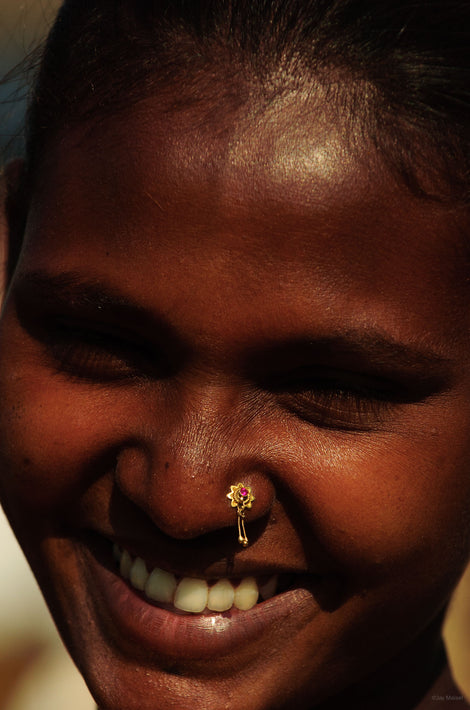 Head, Woman with Nose Rings, Mumbai