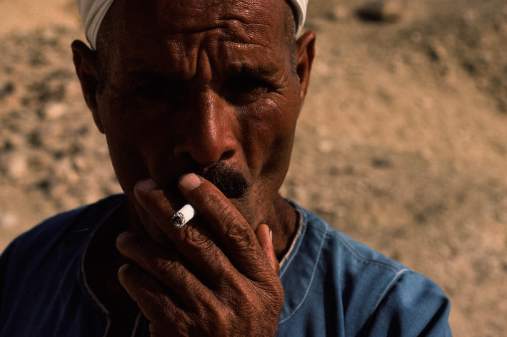 Close-up Man with Cigarette, Egypt