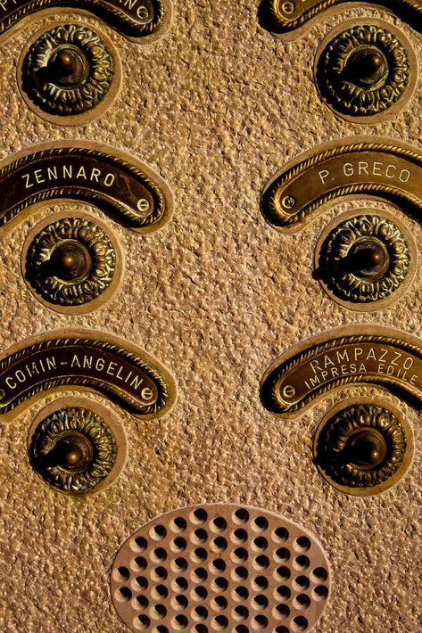 Ornate Intercom Buttons, Venice