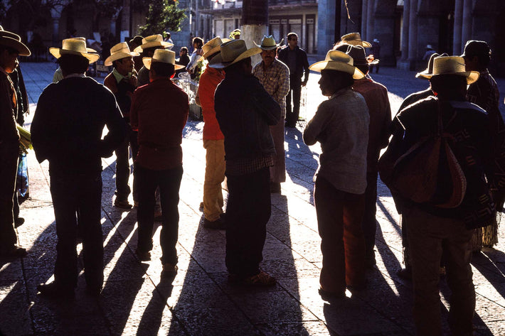 Men with Lit Hats, Oaxaca