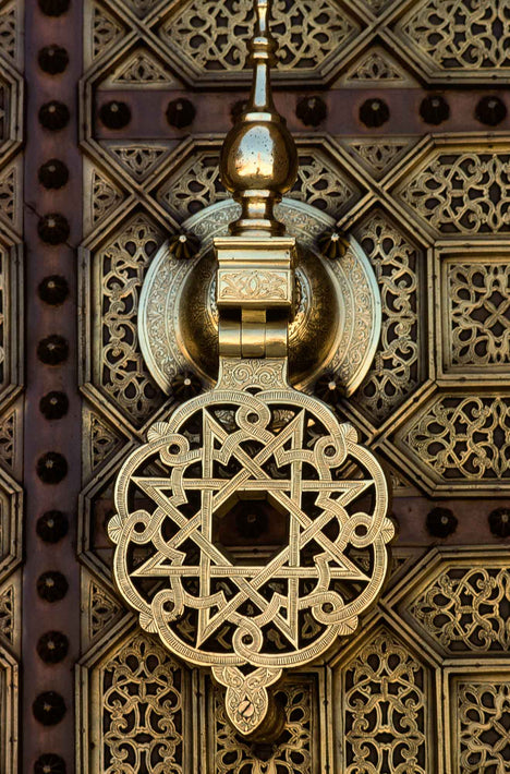 Detail of Ornate Door, Marrakech