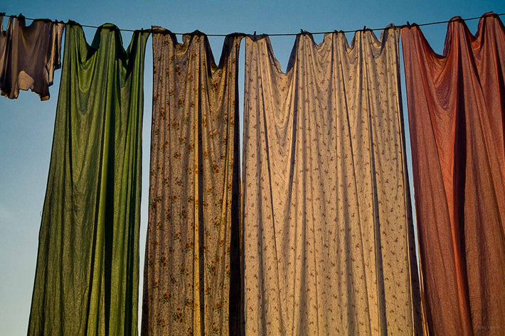 Fabric Hanging on Line, Subtle Colors, Burano