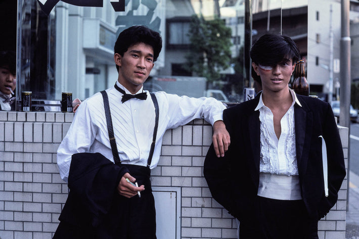Young Men in Tux, One with Face Paint, Tokyo