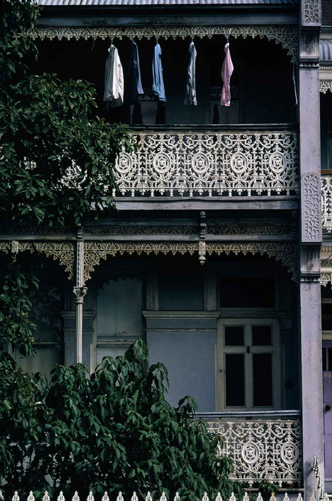 Facade of Building with Wrought Iron Details, Australia