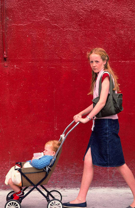 Red Wall, Young Girl, One Kid, Ireland