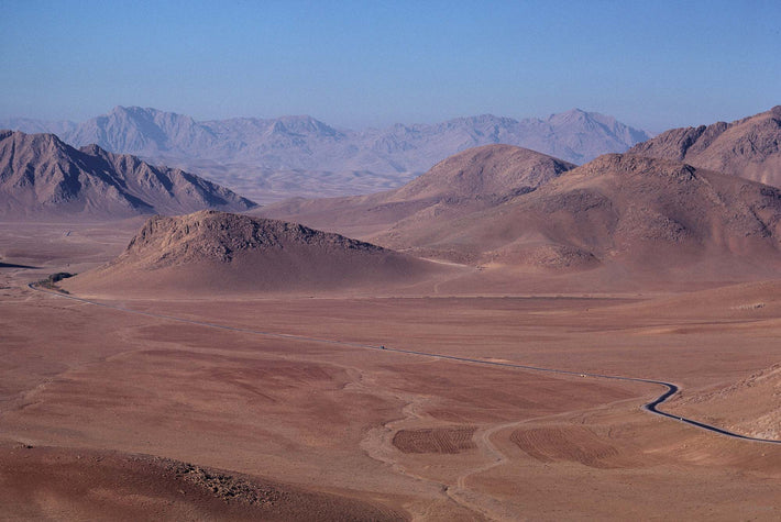 Desert Landscape and Mountains, Iran