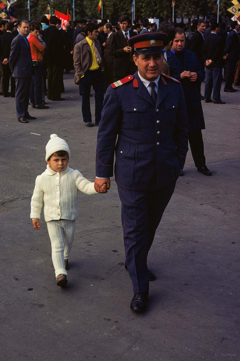 Military Man with Child