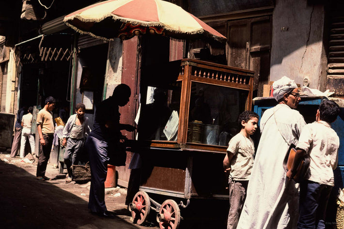 Street with Cart and Umbrella, Egypt