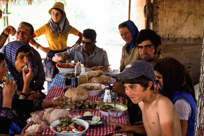 Group Eating, Boy in Baseball Cap, Portugal