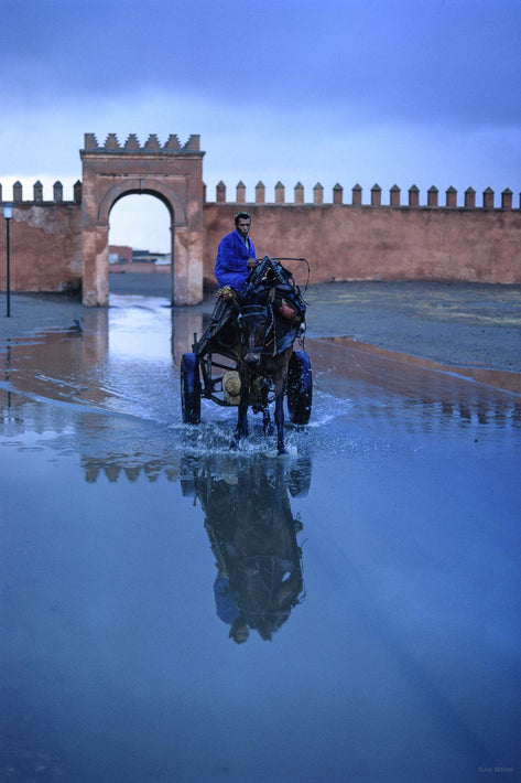Wagon and Reflection, Marrakech