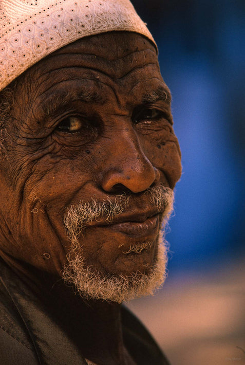 Older Man, White Cap, Kenya