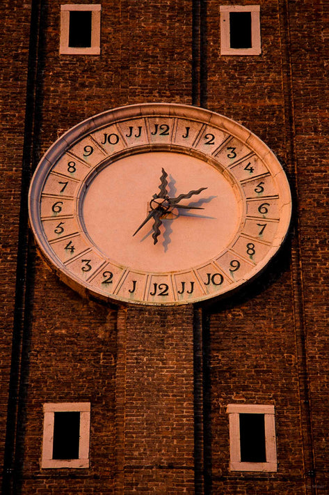 Clock Face on Tower, Venice