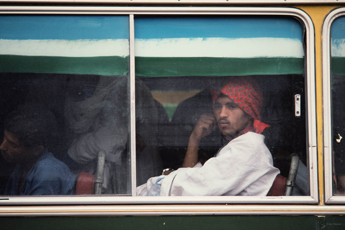 Man with Red Kerchief on Bus, Egypt