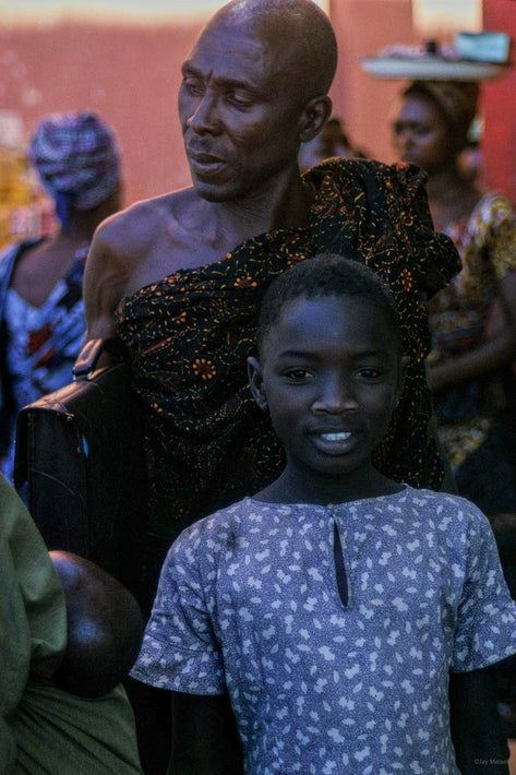 Young Girl, Bald Man, Ghana